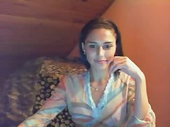Молоденькая русская деваха перед вебкамерой