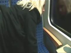 Трах немецкой парочки в поезде